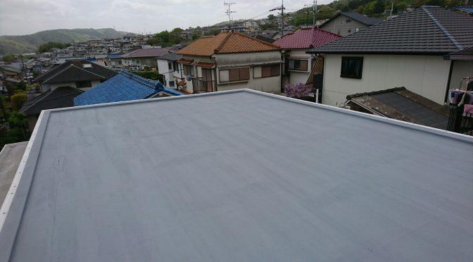 三郷町信貴ヶ丘屋上屋根防水工事