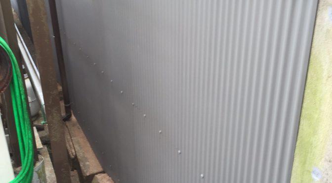 榛原萩原トタン塀補修工事