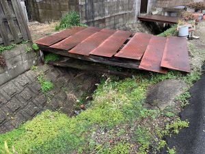 羽曳野市高鷲の橋工事