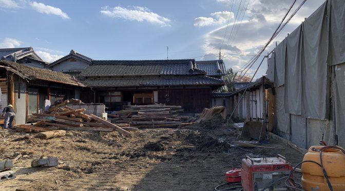 奈良県橿原市城殿町にて建物解体工事