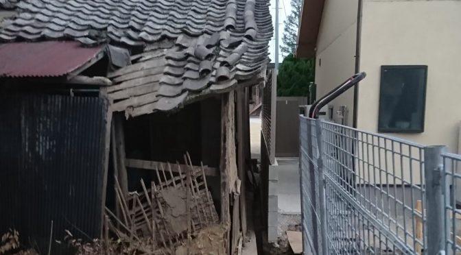 奈良県磯城郡田原本町にて空き家の屋根修理工事