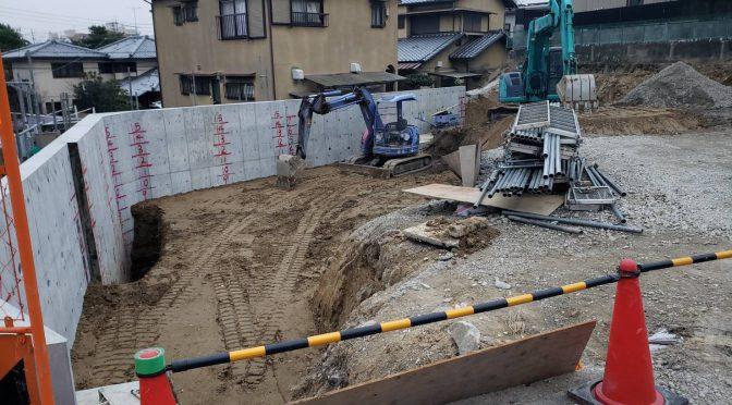 奈良県奈良市百楽園2丁目にて土地造成工事