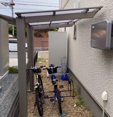 奈良県橿原市鳥屋町にてサイクルポート工事