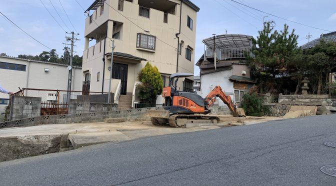 奈良県吉野郡大淀町下渕にて建物解体工事